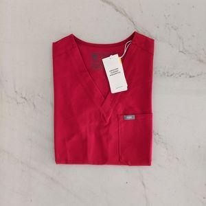 FIGS Red Catarina Top